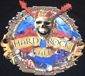 Hard-Rock-Cafe-CAYMAN-ISLANDS-PIRATE-Skull-BLACK-Tee-T-SHIRT-2X-XXL-New-w-TAGS