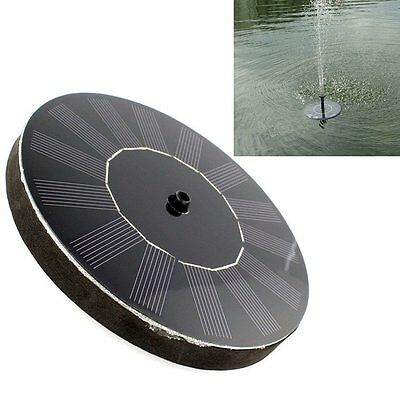 Solar Power Submersible Fountain Water Pump Floating Panel Cycle Pond Watering
