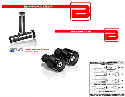 Generoso Barracuda Manopole Argento + Contrappesi Neri Blux Per Tutte Le Moto Supermotard Famoso Per Materie Prime Di Alta Qualità, Gamma Completa Di Specifiche E Dimensioni E Grande Varietà Di Design E Colori