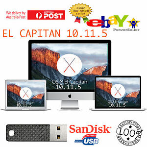 Details about Mac OSX El Capitan 10 11 5 Installer Bootable USB macbook Pro  Air iMac OS X Mini