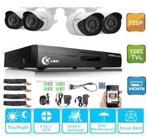 XVIM-1080N-4CH-HDMI-DVR-Home-Security-CCTV-Outdoor-Surveillance-Camera-System-AU