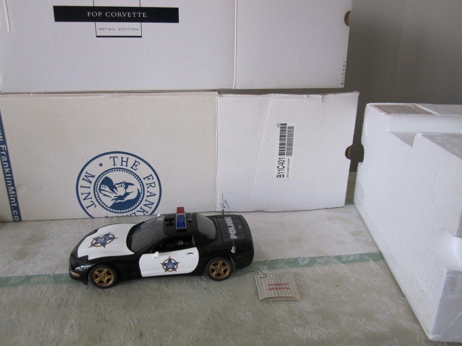 Franklin mint Corvette 1999 FOP policía 1 24 B11C401 de 2500