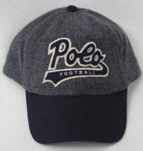 Polo Ralph Lauren Grey Wool Football Baseball Ball Cap Hat NWT