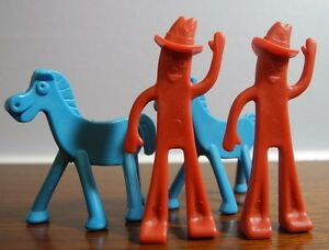 Vintage-Lot-of-4-Gumby-and-Pokey-Happy-Trails-Game-2-of-Each-1968