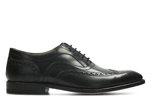 Leather formales 9 zapatos Clarks hombre Uk Twinley Limit Black 43 para 1AqqUWcP