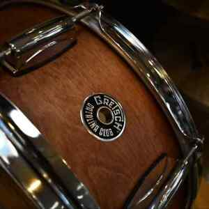 Lightly-Used-Gretsch-Catlina-Club-5-5-034-x-14-034-7-Ply-Mahogany-Snare-Drum-in-Satin