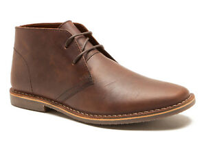 626457fc535 Details about Red Tape Gobi Wood Brown Leather Desert Boots UK size 7-12  RRP £55 Free P&P!