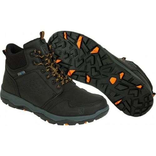 Fox Collection Black Orange Mid Boots Schuhe