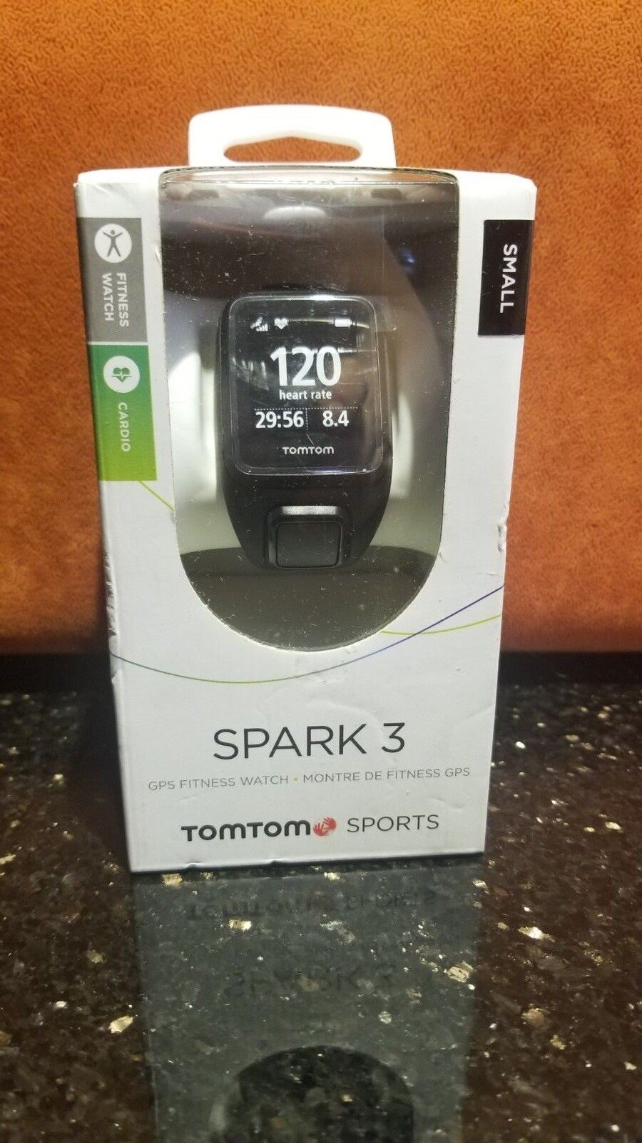 TomTom Spark 3 Multi Sport Rate GPS Fitness Watch with Heart Rate Sport Monitor - Small Str acb920