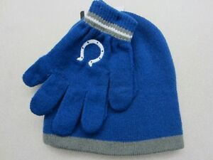 Indianapolis Colts NFL Kids Knit Hat and Gloves Set - Blue (Childs ... 20ec3cd62678