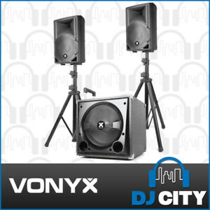 Details about Vonyx VX800BT Active 2 1 Party PA DJ Speaker System with  Bluetooth and Subwoofer