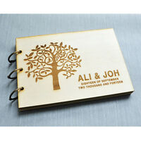 Custom Wood Wedding guest book,Personalized wedding guestbook,engagement gift