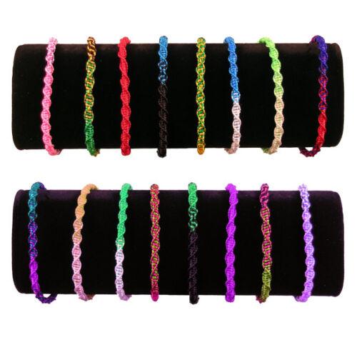 #230 Pack 20 Wool Friendship Bracelets Multicolored Peru Wholesale Pack Lot New