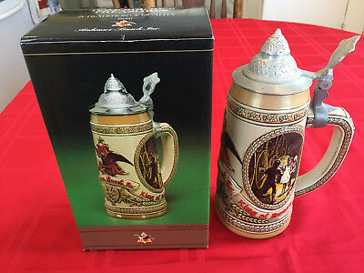 Vintage Collectible Budweiser Stein Limited Edition IV always kept in box Like New comes with COA. Taverns