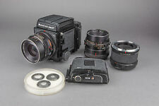 Mamiya RB67 Medium Format SLR Camera w/ 90mm f/3.8, 150mm f/4, Extension Tube