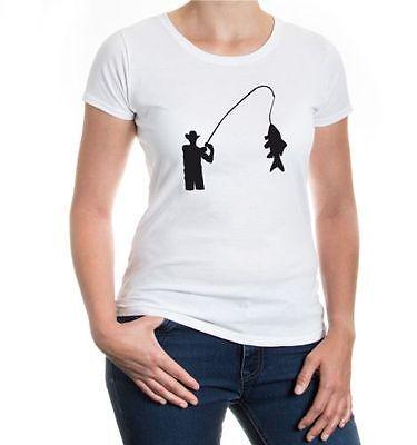 Capace Da Donna A Maniche Corte Malvagia T-shirt Pesca V1 Pesca Sportiva Pescatore Pesce Angel-