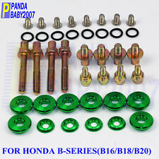 VMS RACING RED SPIKE HEADER CUP BOLT WASHER KIT FOR HONDA ACURA BOLTS B18 B16
