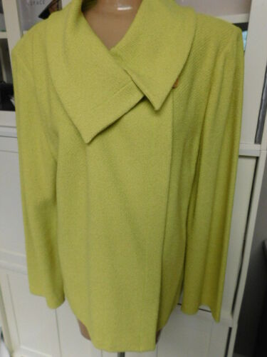 ST.JOHN COLLECTION chartreuse GREEN SWEATER JACKET