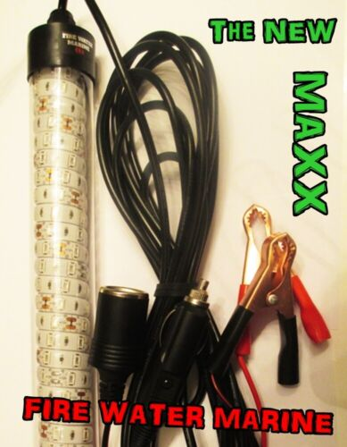 12V MAXX LED GREEN UNDERWATER WATERPROOF SUBMERSIBLE NIGHT FISHING LIGHT