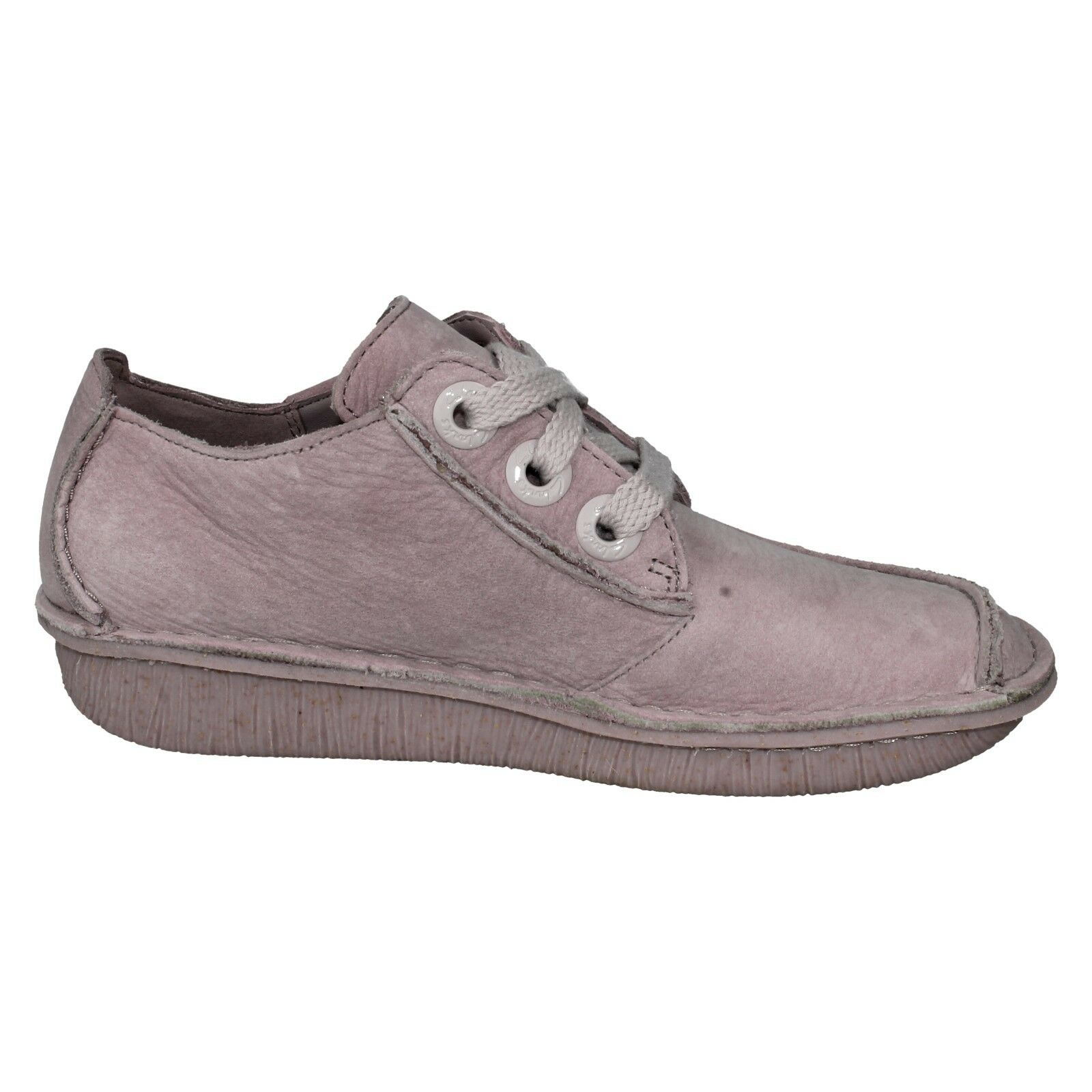 FUNNY DREAM 1 LADIES UP CLARKS UNSTRUCTUROT LEATHER FLAT LACE UP LADIES TROUSER Schuhe 0c9dd3