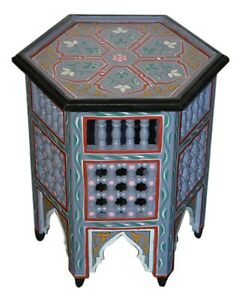 Moroccan-Handmade-Table-Moucharabi-Side-Delicate-HandPainted-Exquisite-Purple