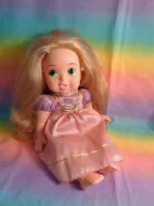 My First Disney Princess Tangled Rapunzel Baby Doll Original Pink Dress Damaged Ebay