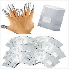 100 Pcs  Aluminium Foil Nail Art Soak Off Acrylic Gel Polish Nail Wraps Remover