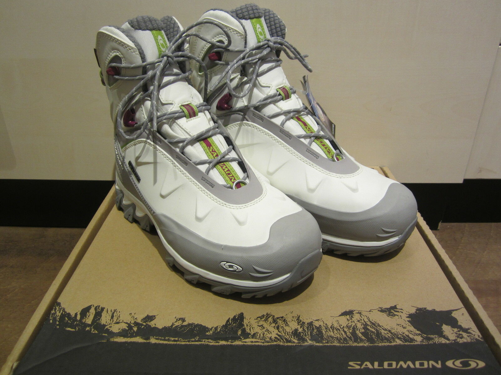 Mr/Ms Salomon boots Z.Lacing, White/Grey, Waterproof NEW Beautiful design Stylish and charming Selling new products