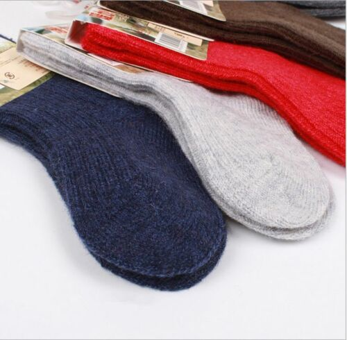 6 Pairs Lot Child Boy Girls Kids Cashmere Wool Thick Warm MultiColor Socks 2-12Y