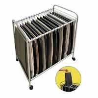 Storage Dynamics Ret3616 Rolling Pants Trolley Hanger Slacks Organizer Rack