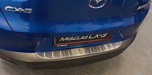 Ladekantenschutz mit Abkantung für Mazda CX-3 Edelstahl 3-Teilig ab 03//2015
