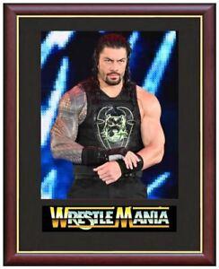 Roman-Reigns-Wrestling-Legend-Mounted-amp-Framed-amp-Glazed-Memorabilia