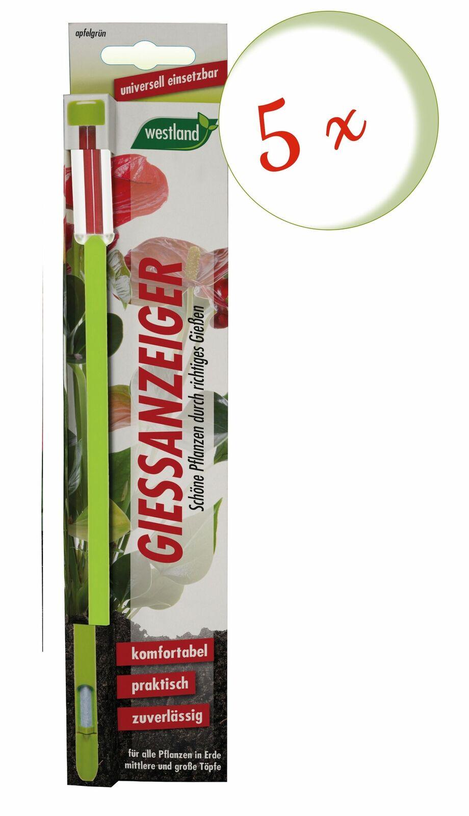 Savings Set: 5 X Westland Indicator For Flower Soil, 26 CM Apple Green