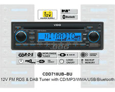 12 Volt Bluetooth PKW Auto Radio RDS & DAB Tuner CD MP3 WMA USB 12V CDD718UB-BU