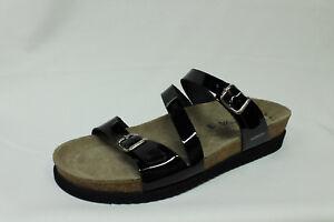 Dettagli su Ciabatte sandali Mephisto Hermina vernice nera tipo Birkenstock