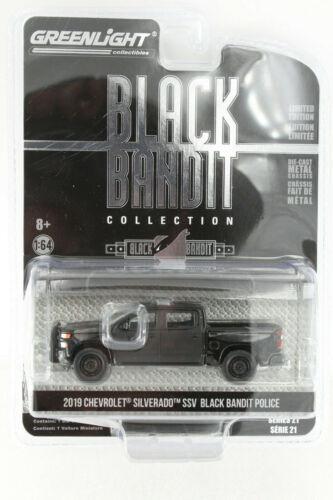 A.S.S NEU GreenLight 1/64 Chevrolet Silverado Police Black Bandit Collection USA