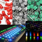 100pcs 5mm Ultra Bright Water Clear LED Bulb Light Emitting Diode 3 Color