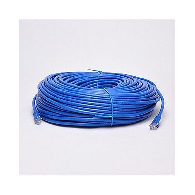 200' FT CAT6 23 AWG RJ45 Ethernet Network LAN Patch Cable Blue Cord Solid UTP