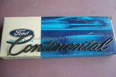 1975 76 LINCOLN (NOS) CONTINENTAL 1/4 PANEL NAMEPLATE D5VY-6525622-A NEW IN BOX!
