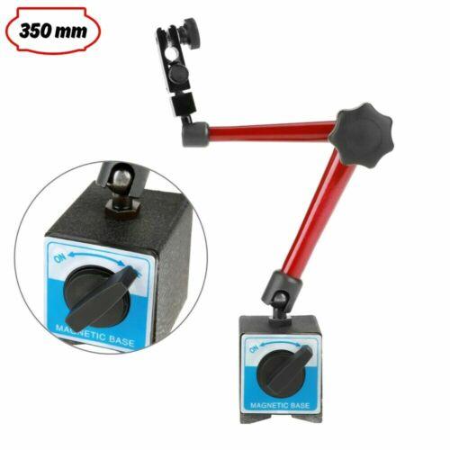 Magnet Messstativ Magnetfußhalter Universalfußhalter für Messuhr 350 mm Regelbar