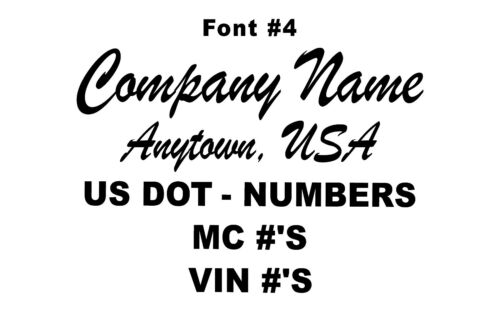 State US DOT Numbers /& more Town Custom Truck Door LetteringCompany Name