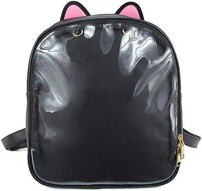 Pink ITA Bag Transparent Cat Ear Backpack Harajuku Purse Traveler Lolita Bag