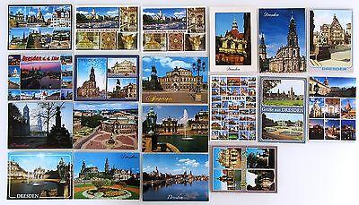 Schlussverkauf Dresden Sachsen Postkarten Sammlung 19 Farbige Ansichtskarten Gebr. Gelaufen