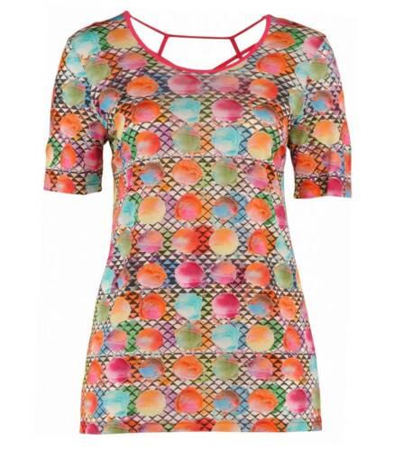 circolare Large Line Colorful motivo Taglie da elasticizzata donna con A shirt T w8SXqRPn