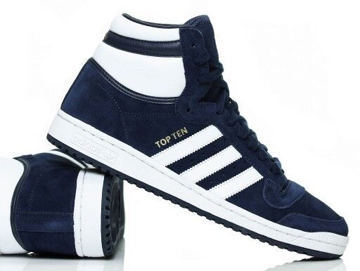 new product c8495 a75c4 adidas Originals Top Ten Hi Mens Shoes SNEAKERS Blue White Leather UK 7  for sale online  eBay