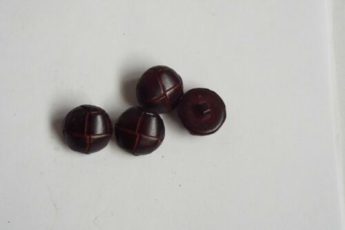 8pc 15mm Brown Mock Leather Knot Effect Coat Jacket Cardigan Kid Button 2618