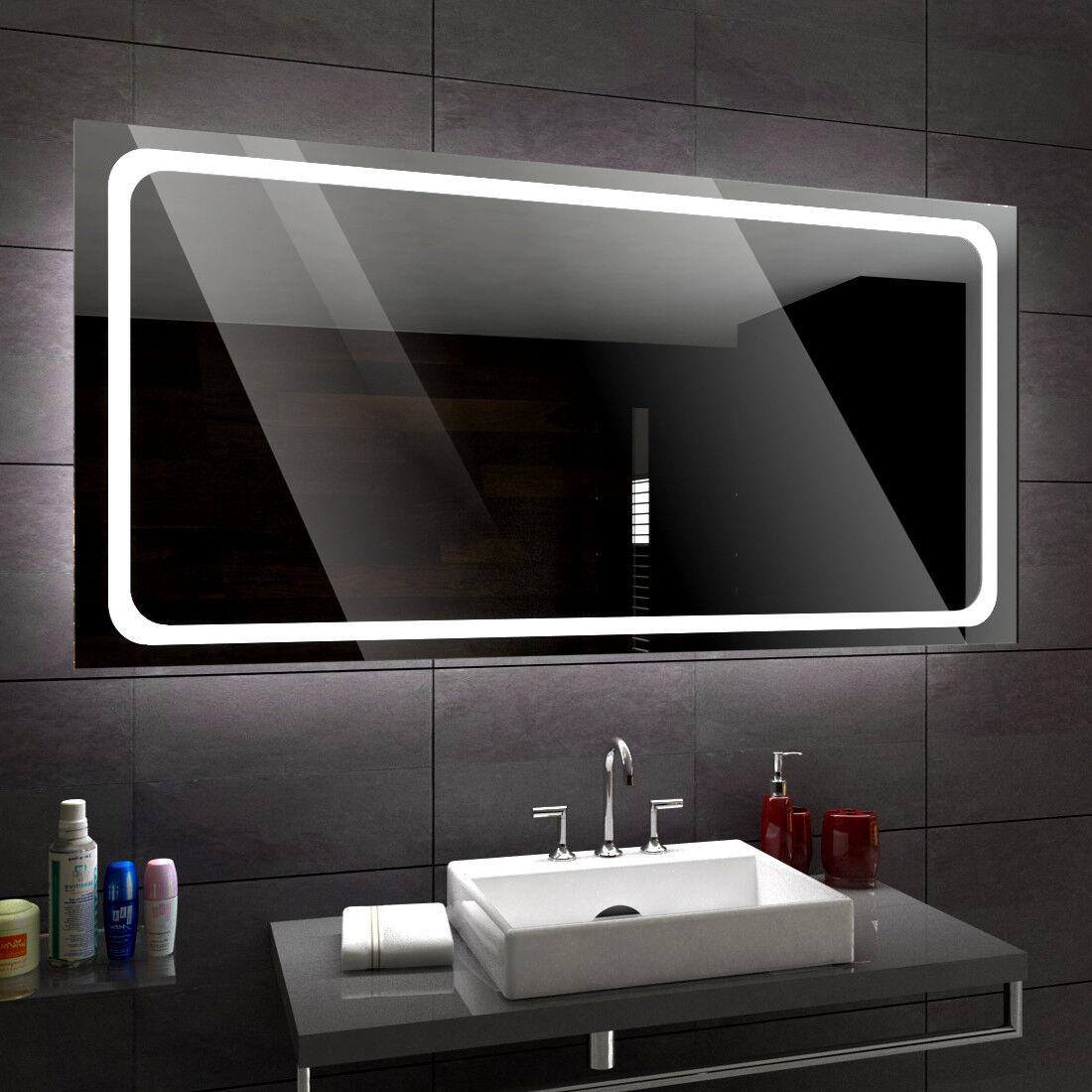 Houston éclairé del Miroir salle de Bain Led personnalisé Größe versions