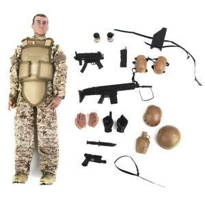 """12/"""" Military Special Forces SWAT Action Figure 1//6 Scale Police Dogs Wargame"""