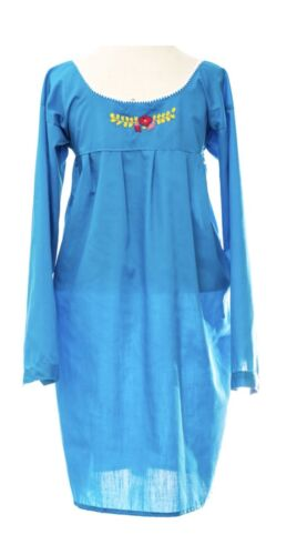Puebla Mexican Dress Hand Embroidered Huipil Women/'s Floral Tunic 3//4 Sleeve
