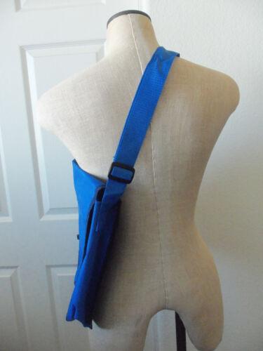 M Resort Las Vegas Royal Blue Polyester Adjustable Shoulder Strap Messenger Bag